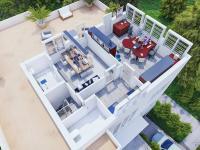 3d půdorys druhého patra - Pronájem komerčního objektu 550 m², Praha 10 - Vršovice