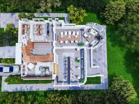 3d půdorys přízemí - Pronájem komerčního objektu 550 m², Praha 10 - Vršovice
