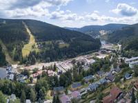 výhled na Hromovku a Labe - Prodej penzionu 460 m², Špindlerův Mlýn