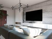 ..jak se Vám líbí jedna z možností uzpůsobení největšího pokoje? - Prodej bytu 2+1 v osobním vlastnictví 61 m², Praha 9 - Vysočany
