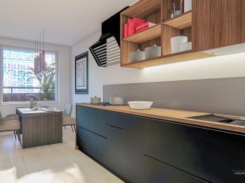 ... může mít třeba tuto podobu - Prodej bytu 2+1 v osobním vlastnictví 61 m², Praha 9 - Vysočany