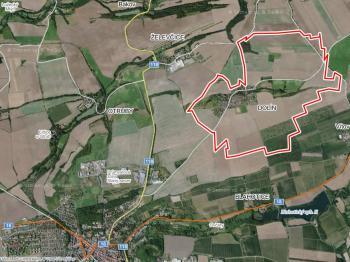 Dolín je městskou částí Slaného - Prodej pozemku 16160 m², Slaný