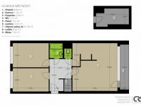 Půdorys - Prodej bytu 3+1 v družstevním vlastnictví 70 m², Praha 5 - Stodůlky