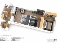 Půdorys bytu 3+kk - Prodej domu v osobním vlastnictví 318 m², Zlatníky-Hodkovice