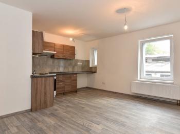 obývací pokoj s kuchyní - Pronájem bytu 2+kk v osobním vlastnictví 42 m², Slaný