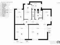 2. nadzemní podlaží - Prodej domu v osobním vlastnictví 270 m², Praha 4 - Krč