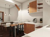 Vizualizace kuchyně - Prodej bytu 1+1 v osobním vlastnictví 59 m², Zábřeh