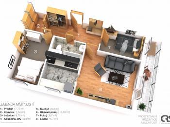 vizualizace - i takto může vypadat tento byt  - Prodej bytu 3+1 v osobním vlastnictví 56 m², Nehvizdy