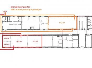 uspořádání ... - Pronájem kancelářských prostor 232 m², Havlíčkův Brod