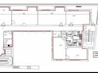 půdorys 4. NP ... - Pronájem kancelářských prostor 308 m², Havlíčkův Brod