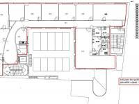 půdorys 3. NP ... - Pronájem kancelářských prostor 308 m², Havlíčkův Brod