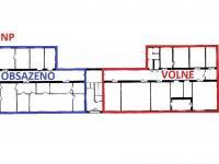 půdorys 1. NP ... (Pronájem kancelářských prostor 20 m², Havlíčkův Brod)