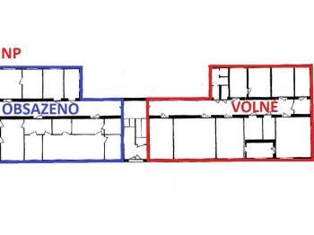 půdorys 1. NP ... - Pronájem kancelářských prostor 20 m², Havlíčkův Brod