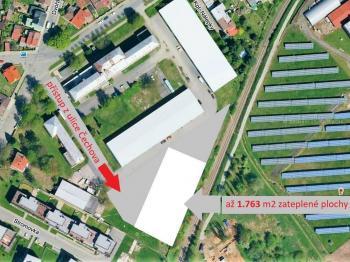 umístění v areálu ... - Pronájem výrobních prostor 1800 m², Havlíčkův Brod