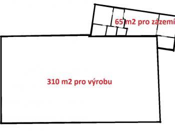 rozložení prostoru ... - Pronájem komerčního objektu 379 m², Velká Losenice