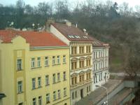 Pohled z obýváku (Pronájem bytu 2+kk v osobním vlastnictví 48 m², Praha 3 - Žižkov)