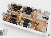 2.NP možný budoucí stav (Prodej domu v osobním vlastnictví 201 m², Praha 4 - Újezd u Průhonic)