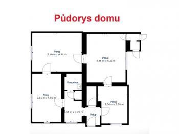 Půdorys  - Prodej domu v osobním vlastnictví 82 m², Dobříň