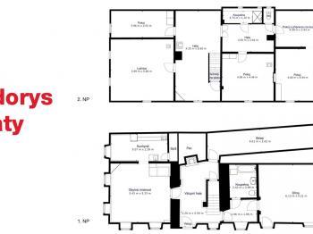 Půdorys - Prodej domu v osobním vlastnictví 253 m², Lovečkovice