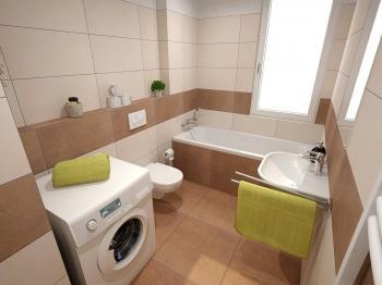 Návrh koupelna - Prodej bytu 3+kk v osobním vlastnictví 84 m², Jince