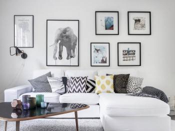 Návrh obívacího pokoje - Prodej bytu 2+1 v osobním vlastnictví 52 m², Nehvizdy