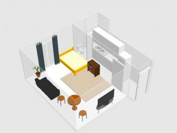 Prodej bytu 1+1 v osobním vlastnictví, 27 m2, Praha 10 - Vršovice
