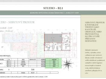 Prodej kancelářských prostor 79 m², Karlovy Vary